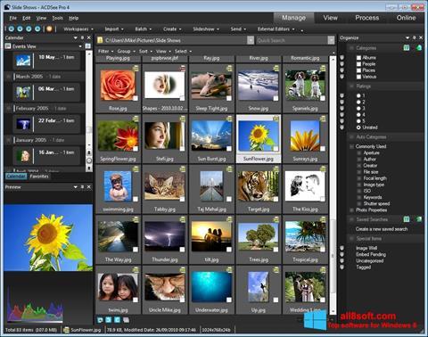 Zrzut ekranu ACDSee na Windows 8