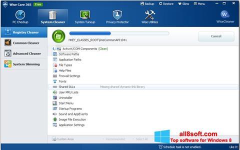 Zrzut ekranu Wise Care 365 na Windows 8