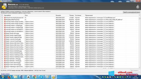 Zrzut ekranu Recuva na Windows 8