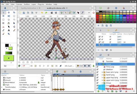 Zrzut ekranu Synfig Studio na Windows 8