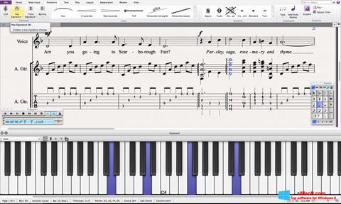 Zrzut ekranu Sibelius na Windows 8