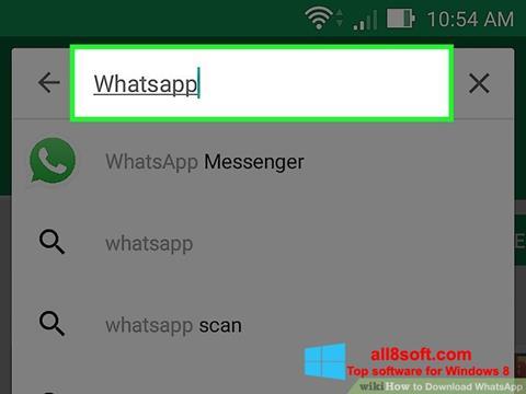 Zrzut ekranu WhatsApp na Windows 8