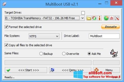 Zrzut ekranu Multi Boot USB na Windows 8