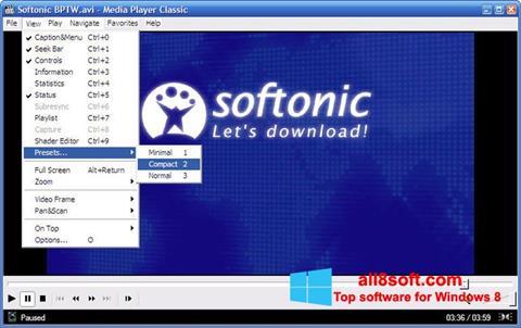 Zrzut ekranu Media Player Classic na Windows 8