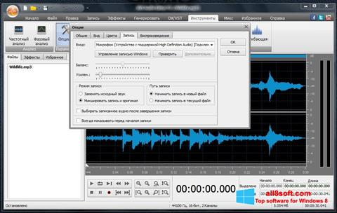 Zrzut ekranu AVS Audio Editor na Windows 8