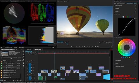 Zrzut ekranu Adobe Premiere Pro na Windows 8