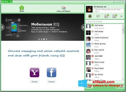 Zrzut ekranu ICQ na Windows 8