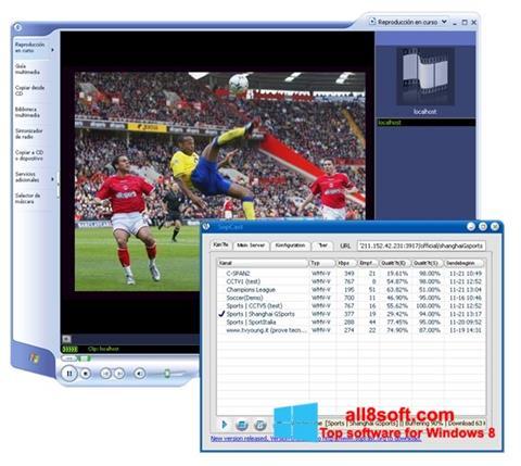 Zrzut ekranu SopCast na Windows 8