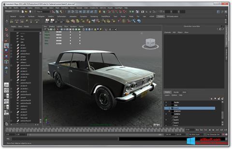 Zrzut ekranu Autodesk Maya na Windows 8