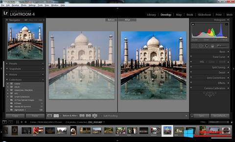 Zrzut ekranu Adobe Photoshop Lightroom na Windows 8