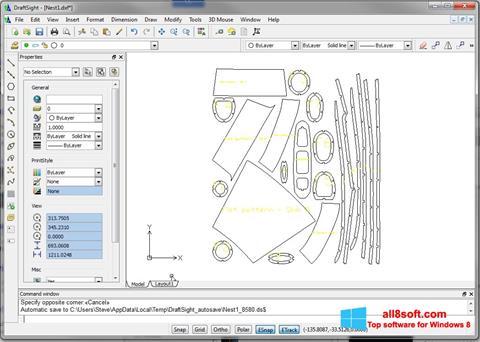 Zrzut ekranu DraftSight na Windows 8