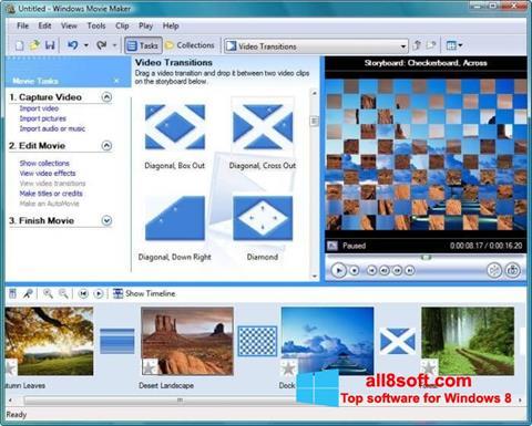 Zrzut ekranu Windows Movie Maker na Windows 8