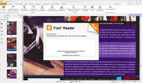 Zrzut ekranu Foxit Reader na Windows 8