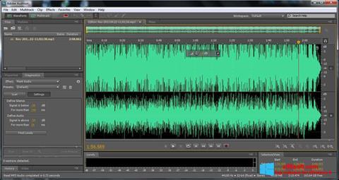 Zrzut ekranu Adobe Audition na Windows 8