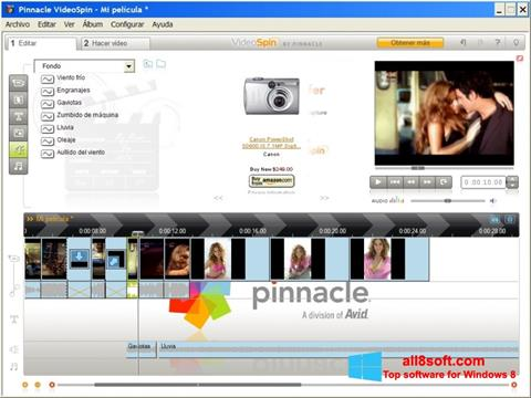 Zrzut ekranu Pinnacle VideoSpin na Windows 8