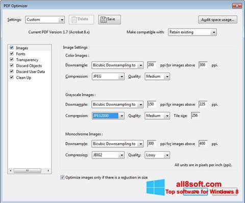 Zrzut ekranu Adobe Acrobat Pro DC na Windows 8
