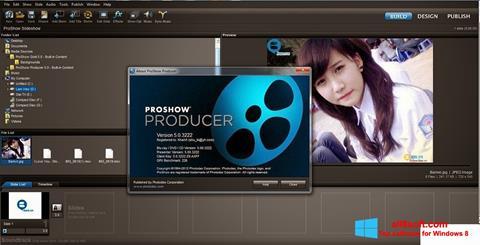 Zrzut ekranu ProShow Producer na Windows 8