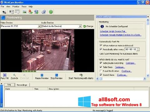 Zrzut ekranu WebCam Monitor na Windows 8