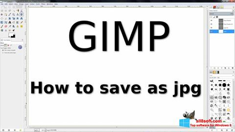 Zrzut ekranu GIMP na Windows 8