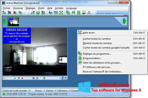 Zrzut ekranu Active WebCam na Windows 8