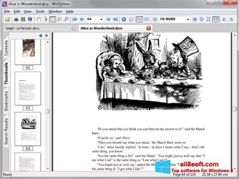 Zrzut ekranu DjView na Windows 8