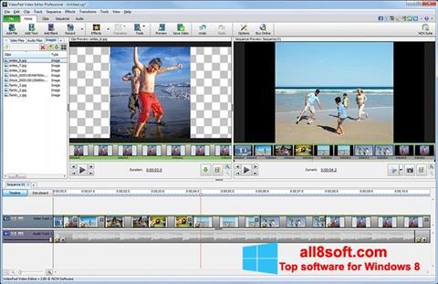 Zrzut ekranu VideoPad Video Editor na Windows 8