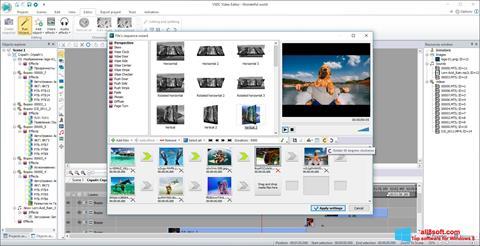 Zrzut ekranu VSDC Free Video Editor na Windows 8