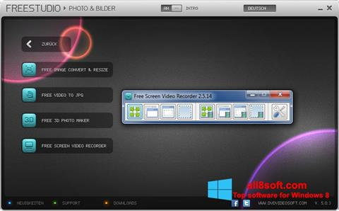 Zrzut ekranu Free Studio na Windows 8