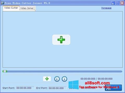Zrzut ekranu Free Video Cutter na Windows 8