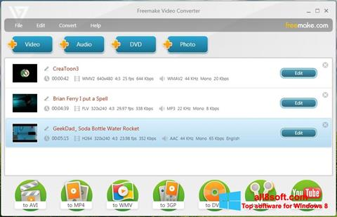 Zrzut ekranu Freemake Video Converter na Windows 8