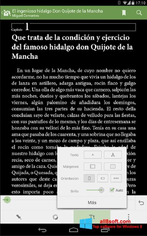 Zrzut ekranu BookReader na Windows 8