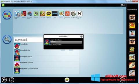 Zrzut ekranu BlueStacks na Windows 8