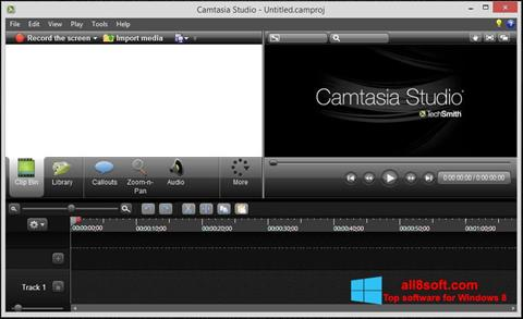 Zrzut ekranu Camtasia Studio na Windows 8