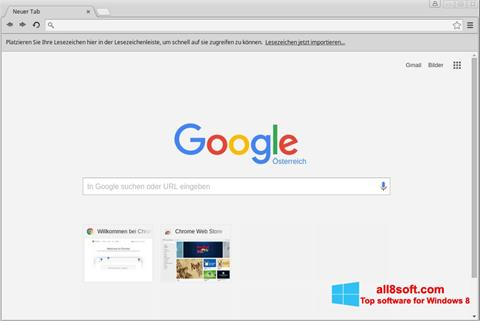 Zrzut ekranu Google Chrome na Windows 8