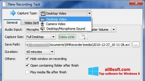 Zrzut ekranu SMRecorder na Windows 8