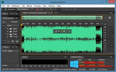 Zrzut ekranu Adobe Audition CC na Windows 8
