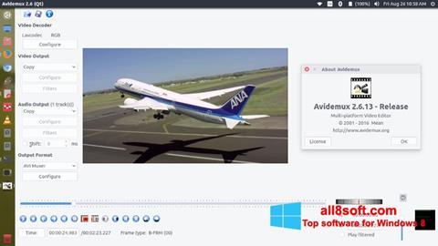 Zrzut ekranu Avidemux na Windows 8